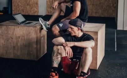 David Dvořák v gymu.